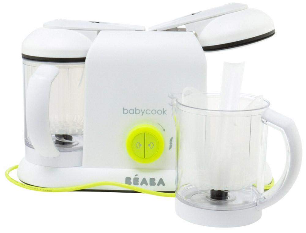 Beaba Блендер-пароварка Babycook Plus цвет белый салатовый beaba для бутылочек в стакане grey