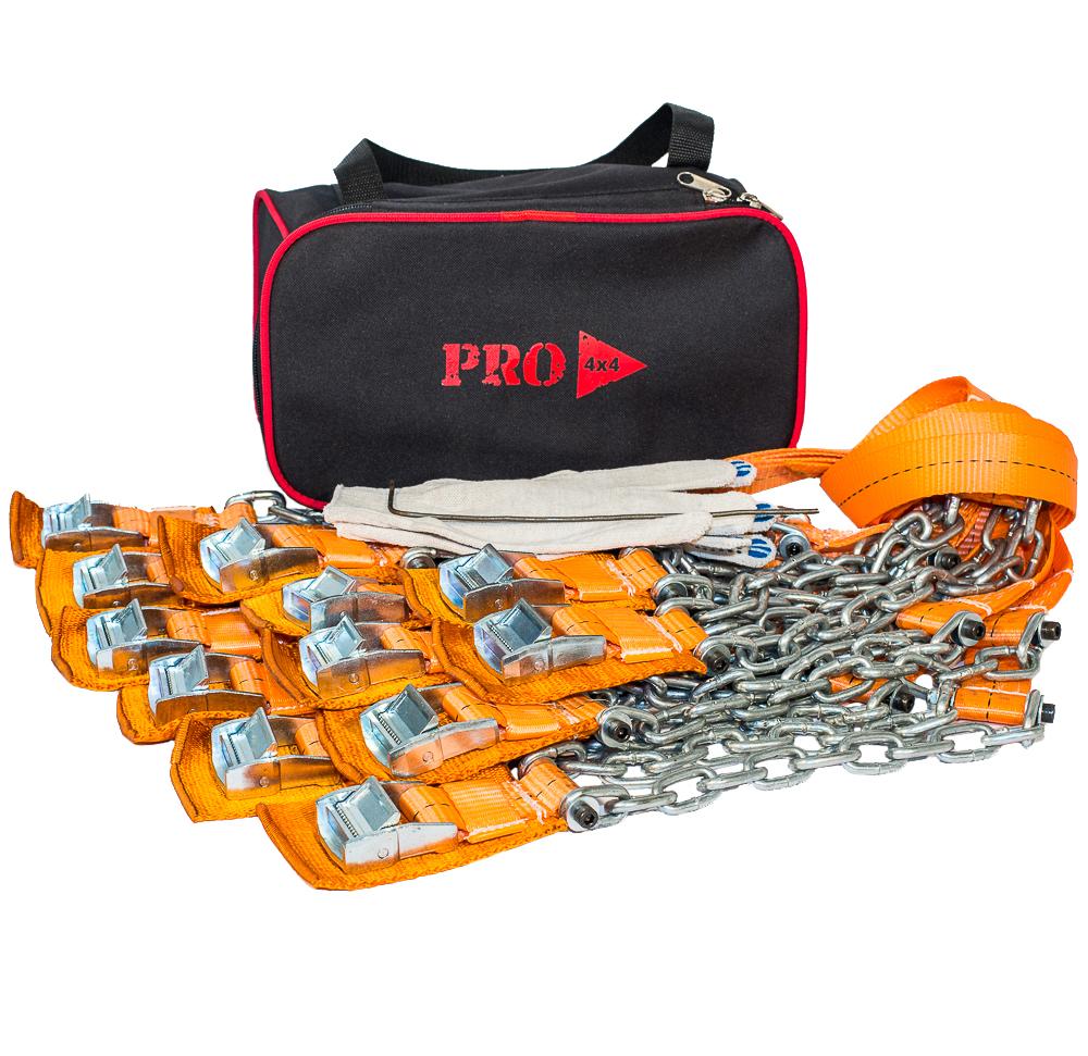 Браслеты противоскольжения PRO-4x4 Medium, для кроссовера, 12 шт браслеты yat heen 235235 108