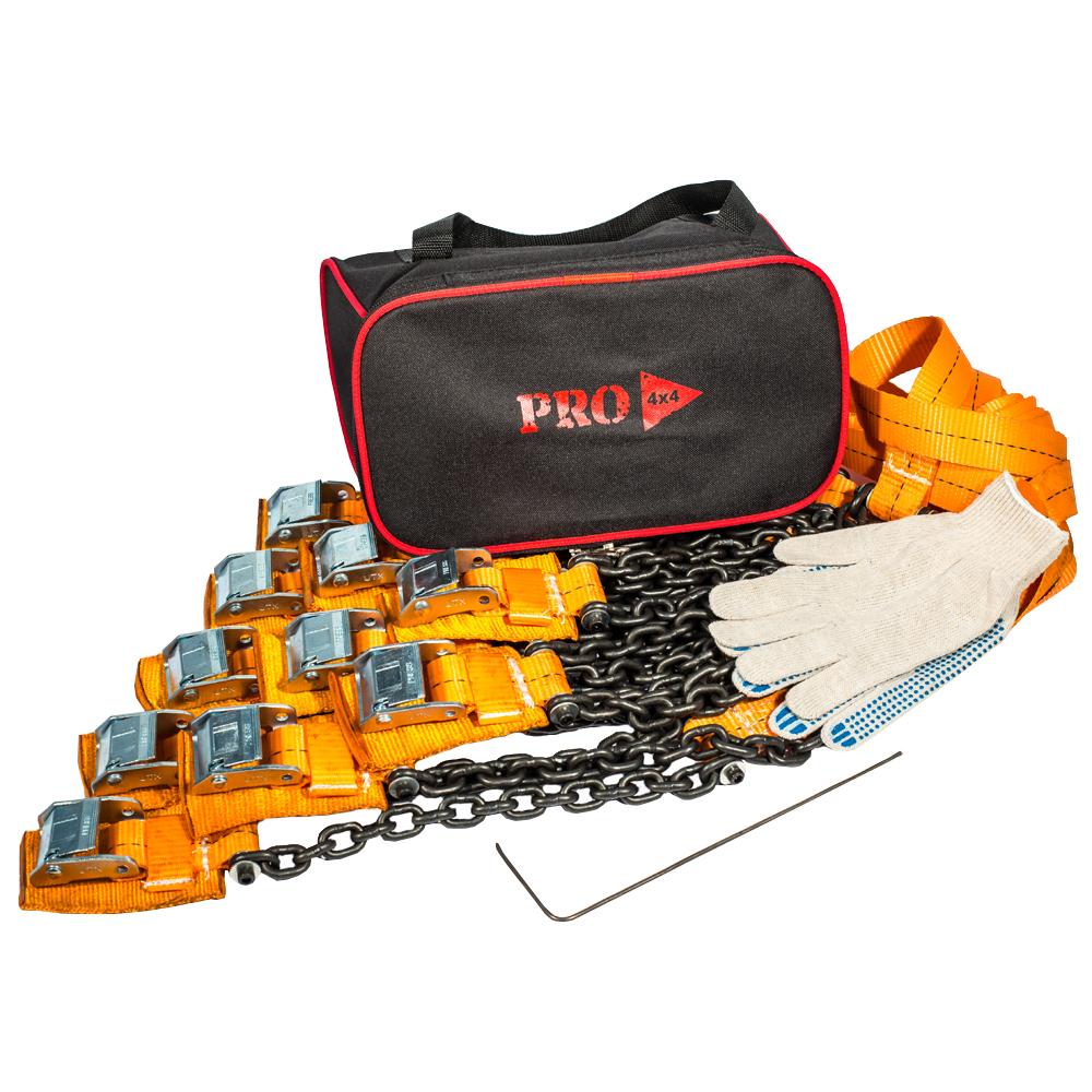 Браслеты противоскольжения PRO-4x4 Heavy, для внедорожника, 10 шт цепи противоскольжения pewag sxp snox pro 570