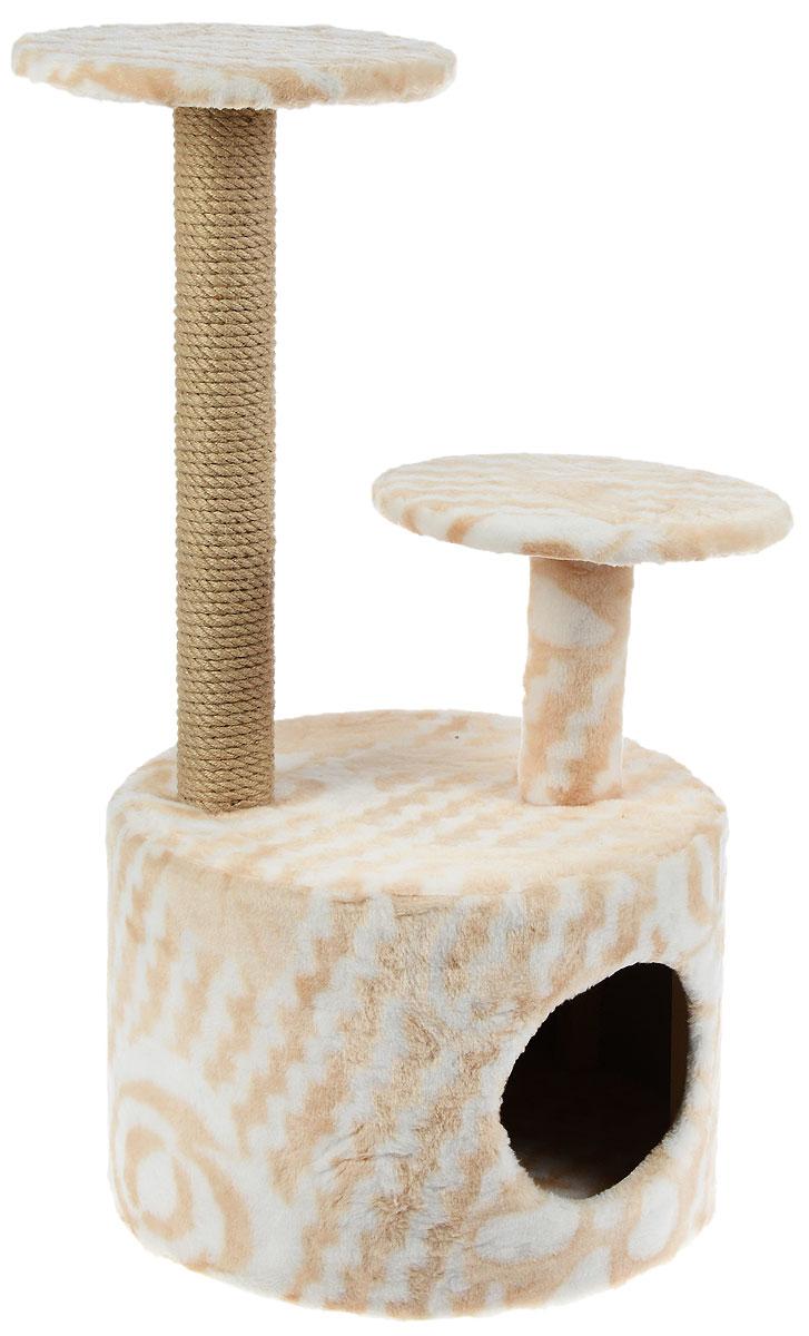 Игровой комплекс для кошек Меридиан, с когтеточкой и двумя полками, цвет в ассортименте, 40 х 40 х 81 см игровой комплекс для кошек меридиан с когтеточкой и двумя полками цвет светло коричневый бежевый 40 х 40 х 81 см