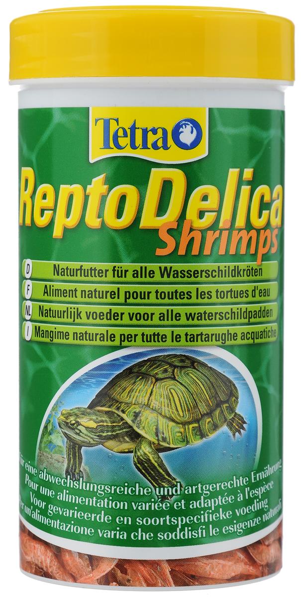 Корм для водных черепах Tetra Repto Delica Shrimps, креветки, 20 г корм tetra reptomin junior для молодых водных черепах палочки 250 мл