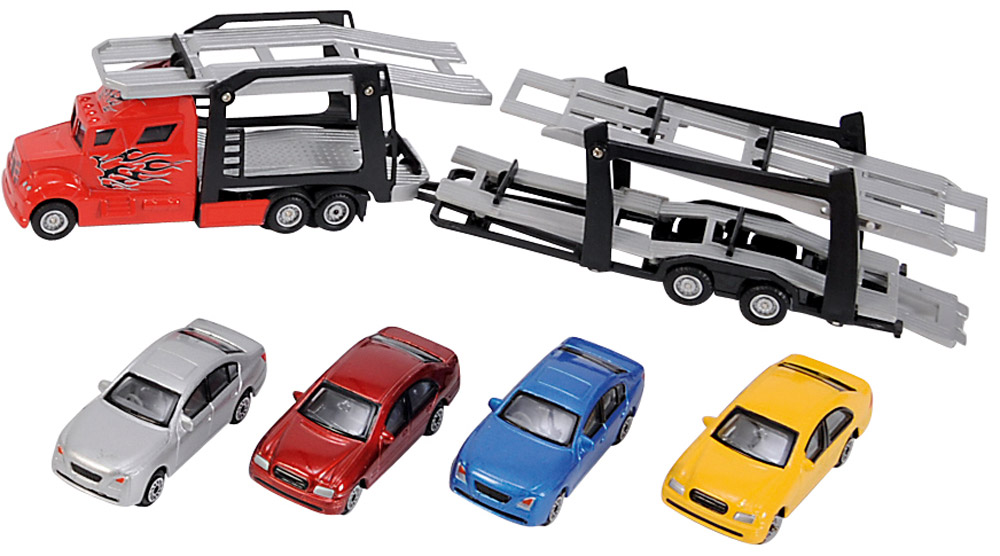 Dickie Toys Набор машинок Car Trailer 5 шт dickie toys набор машинок car trailer 5 шт