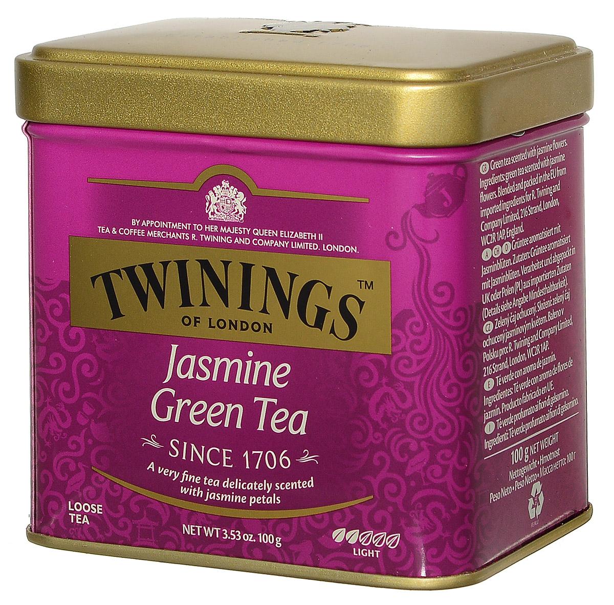 Twinings Jasmine Tea зеленый листовой чай с жасмином, 100 г (ж/б) цена 2017