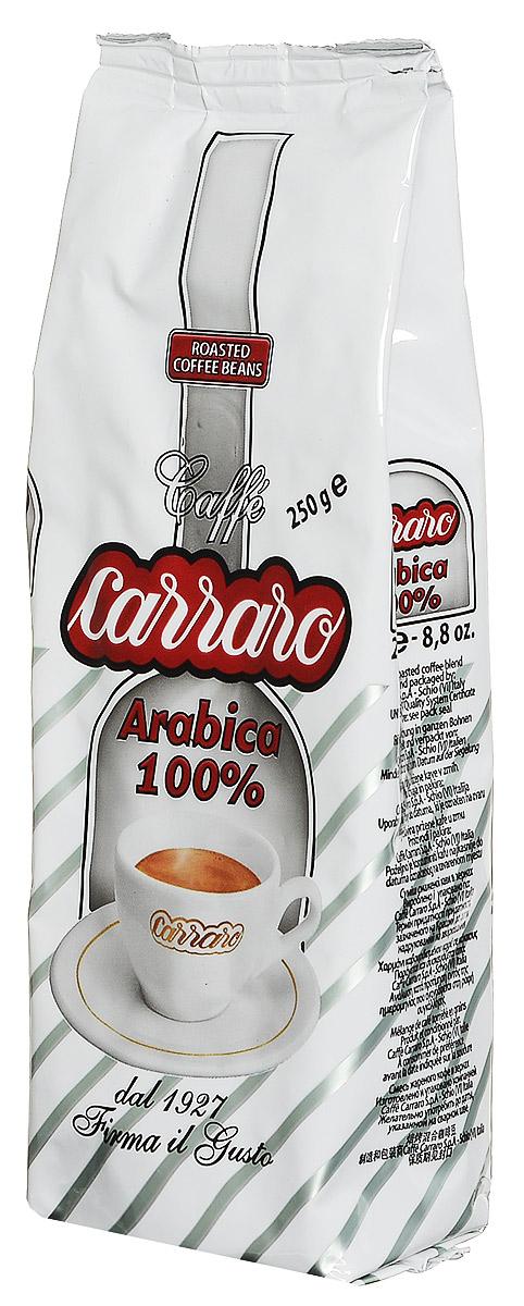 Carraro Arabica 100% кофе в зернах, 250 г кофе в зернах carraro 1927 250 г ж б