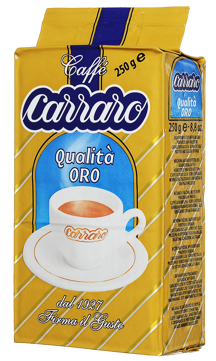 Carraro Qualita Oro кофе молотый, 250 г