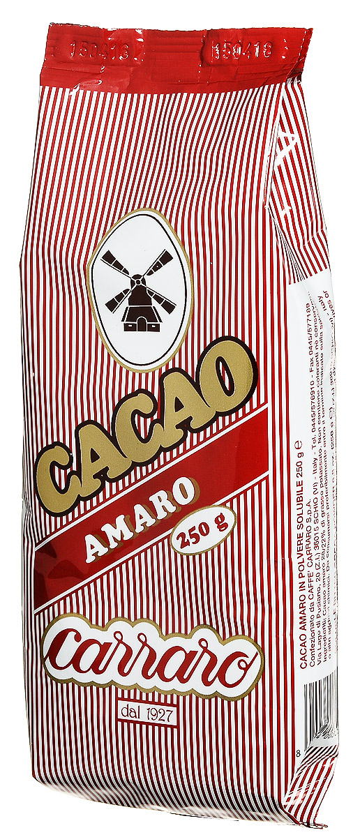 Carraro Amaro какао, 250 г какао растворимый белый мишка 700 г