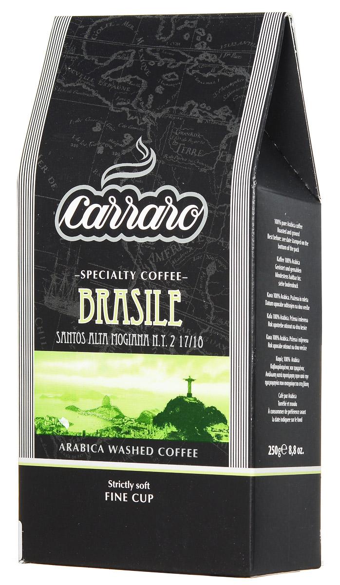 Carraro Brasile Arabica 100% кофе молотый, 250 г segafredo le origini brasile кофе молотый 250 г