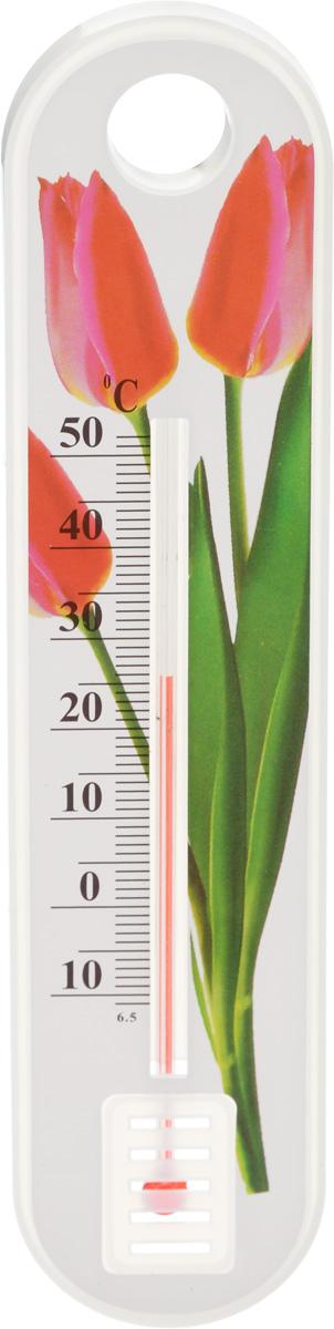 Термометр уличный Village People Цветы. Тюльпан, 18,5 х 4 см украшение на ножке village people соломенные веселые цветы цвет зеленый 66945 1