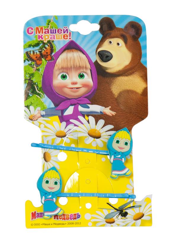 Маша и медведь Заколка-Невидимка Маша цвет голубой 2 шт цена