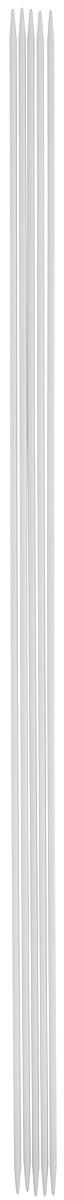Спицы чулочные Pony, металлические, прямые, диаметр 2 мм, длина 30 см, 5 шт набор крючков для вязания pony металлические длина 13 см 10 предметов