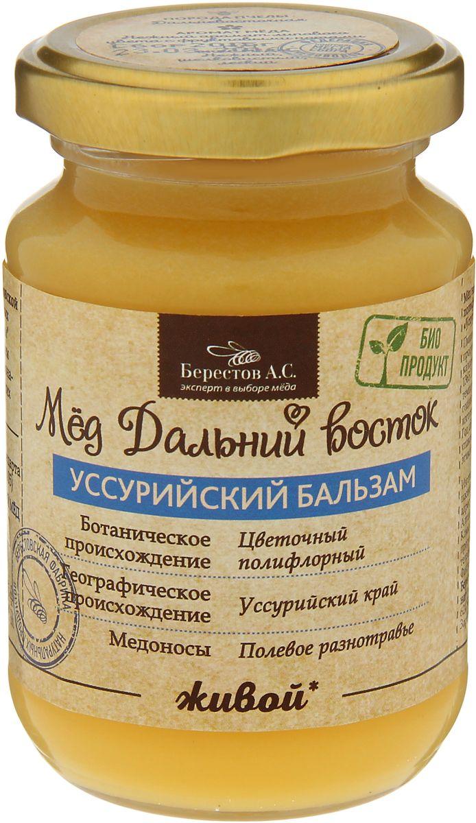 Берестов Мед Уссурийский бальзам, 240 г берестов мед майский 500 г