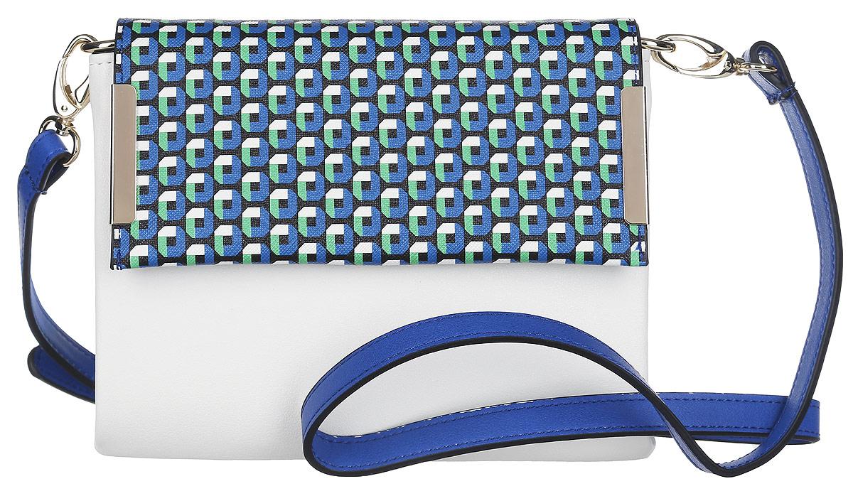 цена Клатч Labbra, цвет: белый, синий. L-5438 онлайн в 2017 году