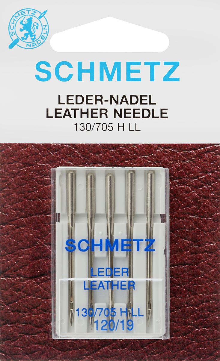 Иглы для бытовых швейных машин Schmetz, для кожи, №120, 5 шт carioca набор пластиковых мелков plastello 12 цветов