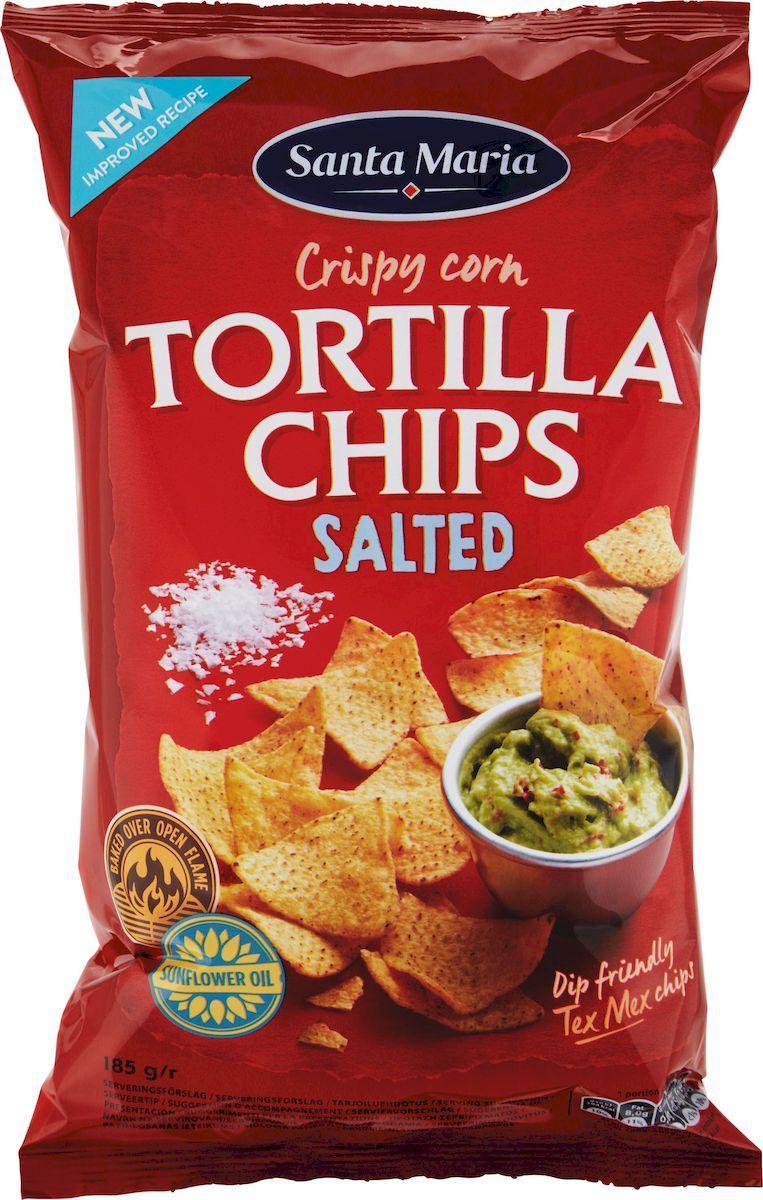 Santa Maria Чипсы кукурузные соленые, 185 г santa maria чипсы кукурузные с чили 185 г