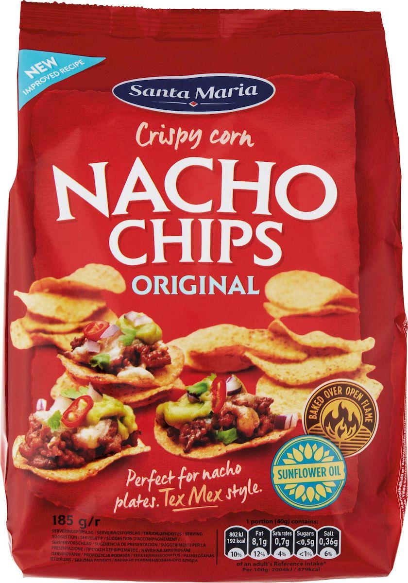 Santa Maria Чипсы кукурузные Начо, 185 г santa maria чипсы кукурузные с чили 185 г