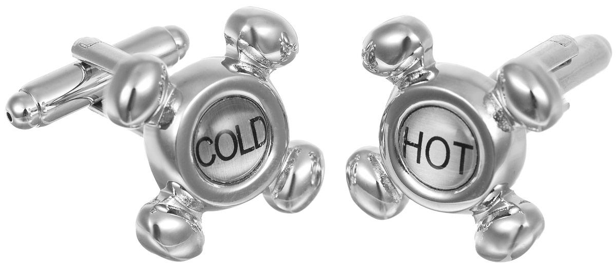 Запонки мужские Mitya Veselkov Hot-Cold, цвет: серебряный. ZAP-028 cold war gone hot