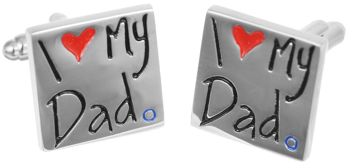 Запонки бижутерные Mitya Veselkov love you dad