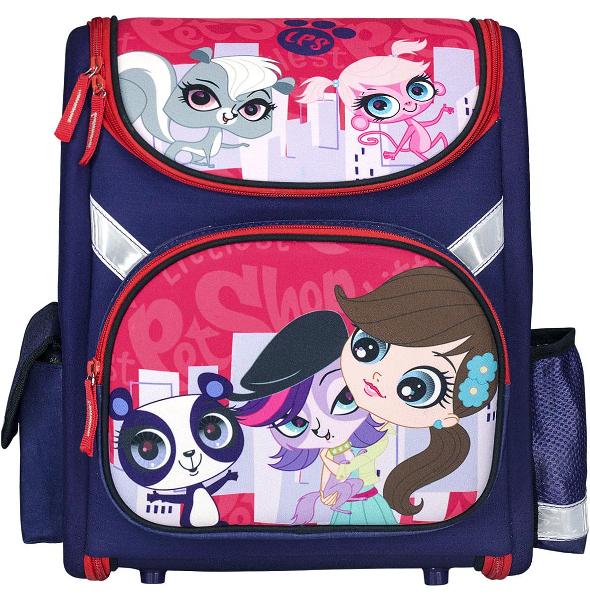 Littlest Pet Shop Ранец школьный цвет фиолетовый красный