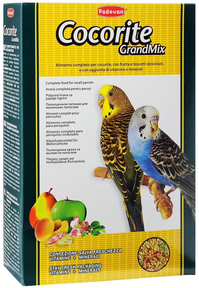 Корм Padovan Сocorite Grandmix, для волнистых попугаев, 1 кг padovan корм padovan lino для птиц зёрна льна 1 кг