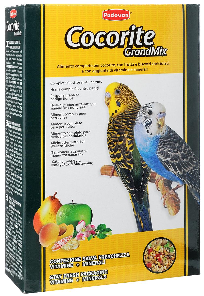 Корм Padovan Сocorite Grandmix, для волнистых попугаев, 400 г padovan корм padovan lino для птиц зёрна льна 1 кг
