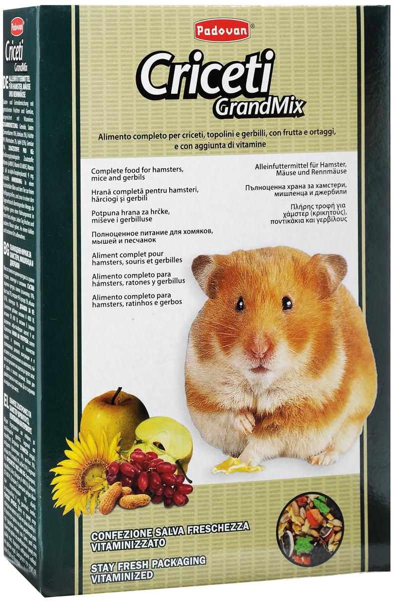 Корм Padovan Criceti Grandmix, для хомяков и мышей, 400 г padovan корм padovan lino для птиц зёрна льна 1 кг