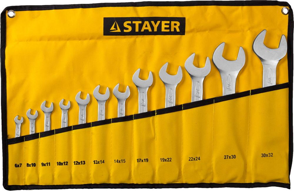 Набор ключей рожковых Stayer