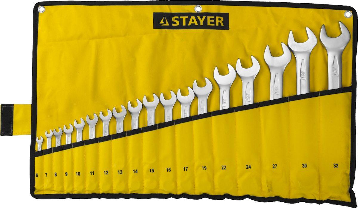 Набор ключей комбинированных Stayer Professional, 18 предметов