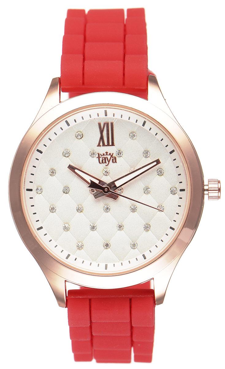 Часы наручные женские Taya, цвет: золотистый, красный. T-W-0201 все цены