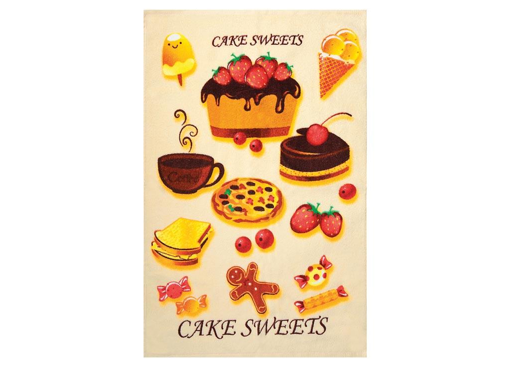Полотенце Soavita Cake, цвет: бежевый, 45 х 70 см полотенце soavita добби цвет бежевый 50 х 70 см