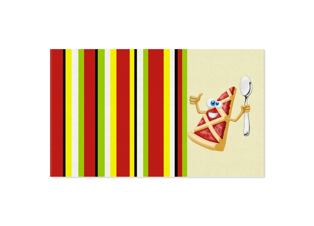 Полотенце кухонное Soavita Пицца, цвет: кремовый, красный, 30 х 50 см полотенце кухонное soavita ку ка ре ку цвет фисташковый 40 х 60 см