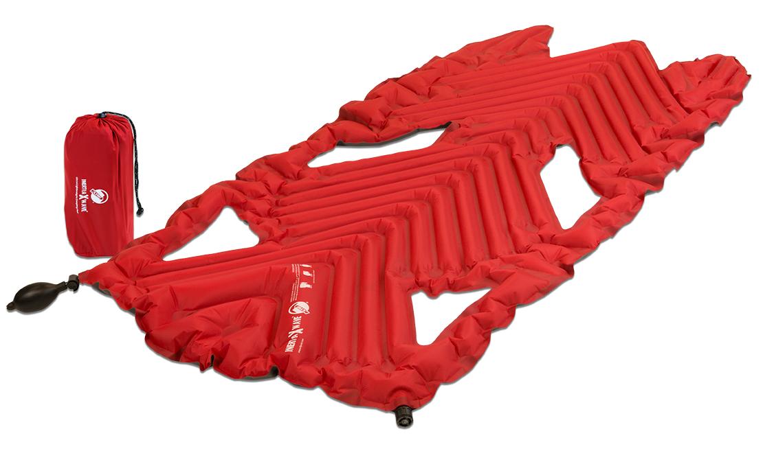 Надувной коврик Klymit Inertia X Wave pad Red, цвет: красный