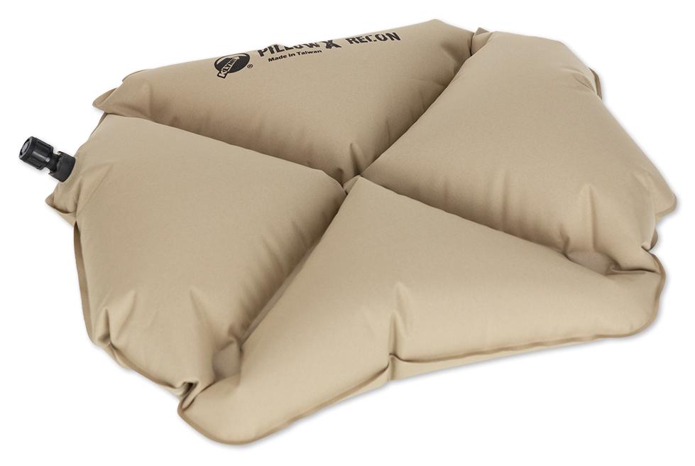 Надувная подушка Klymit Pillow X Recon, цвет: песочный