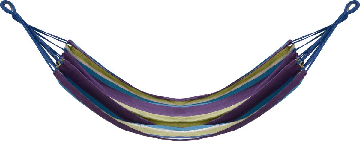 Гамак полотняный KingCamp, цвет: желтый, фиолетовый, синий, 200 см х 100 см гамак гамак гамак гамак гамак открытый гамак наружные подвески