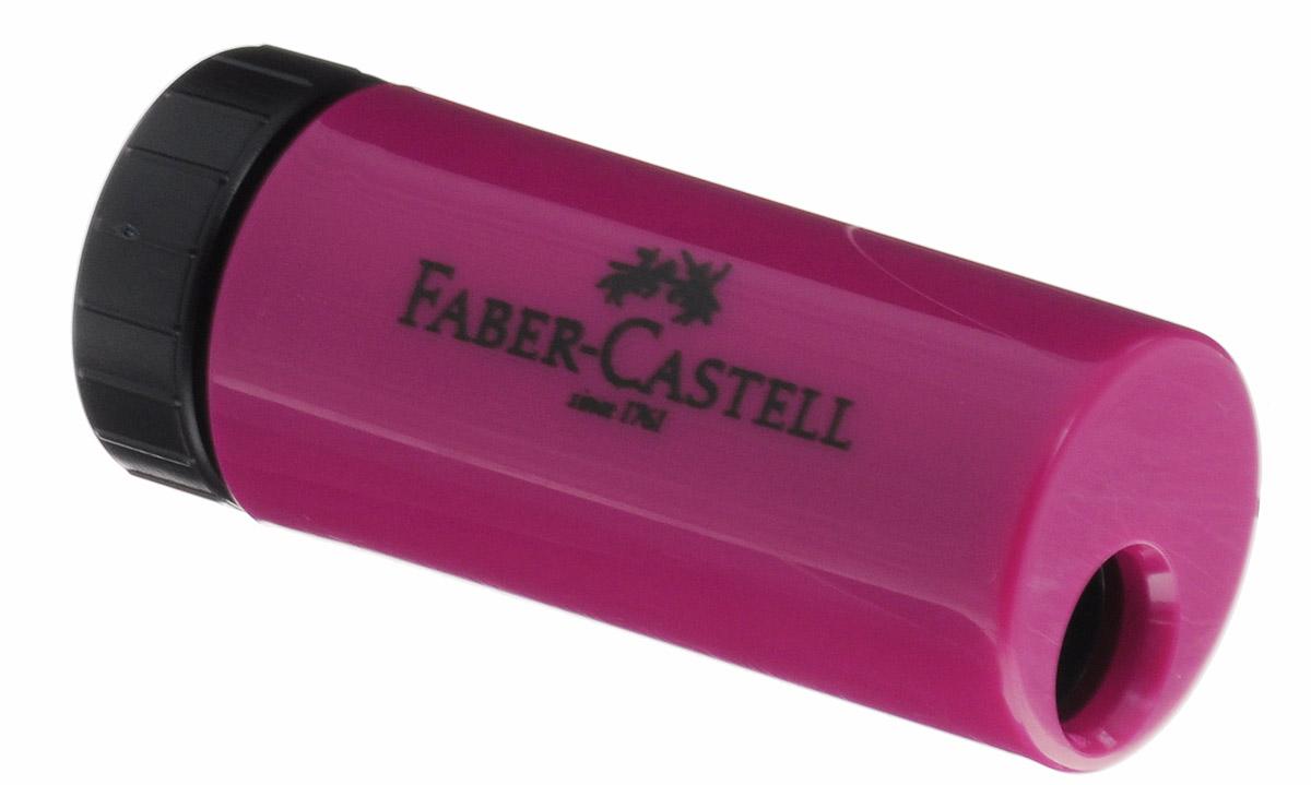 Faber-Castell Точилка с контейнером цвет бордовый