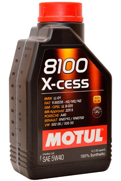 102784 MOTUL 8100 X-cess 5w-40 масло мот. синт. 1 л 320-246