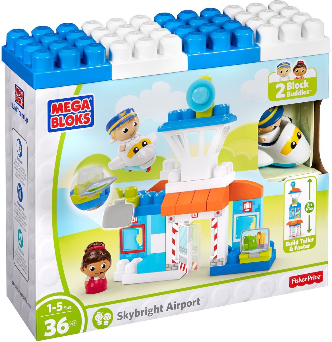 цены на Mega Bloks First Builders Конструктор Веселый аэропорт  в интернет-магазинах