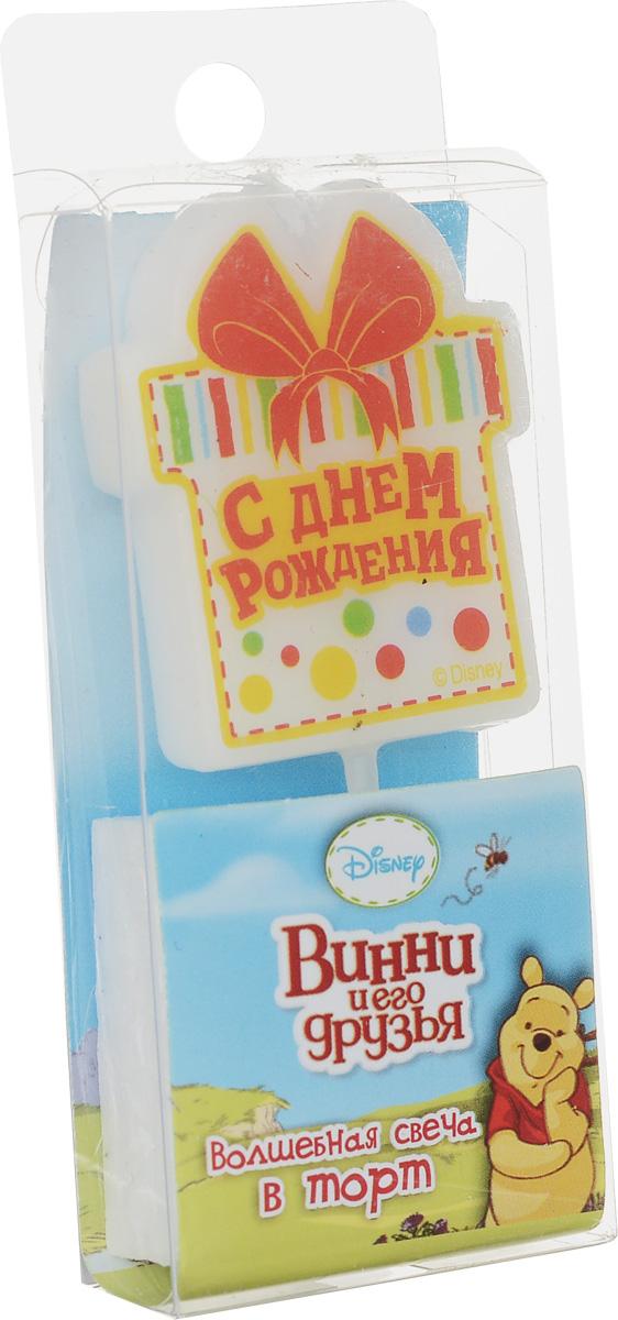 Disney Свеча для торта С днем рождения Винни и его друзья disney винни и его друзья 100 наклеек