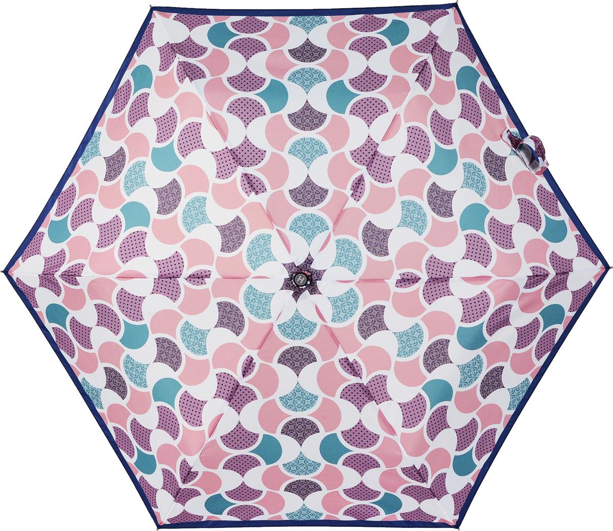 Зонт женский Henry Backer, 3 сложения, цвет: розовый. U32203 Good mood шарф женский henry backer цвет розовый hb1605b14 63 размер 100 см х 200 см