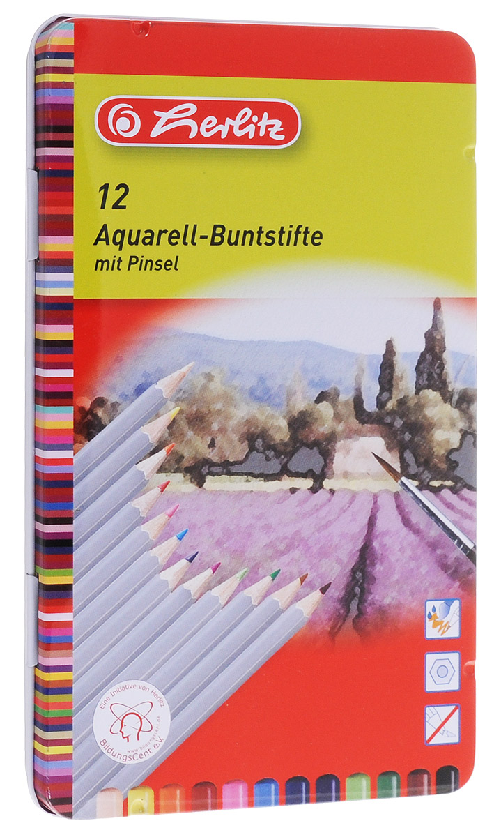 Herlitz Набор карандашей акварельных 12 цветов herlitz цветные карандаши herlitz 12 шт трехгранные
