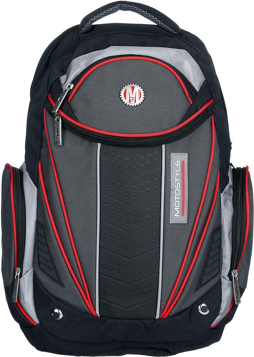 8755a1abb34a Proff Рюкзак детский Motostyle цвет черный серый красный — купить в  интернет-магазине OZON.ru с быстрой доставкой