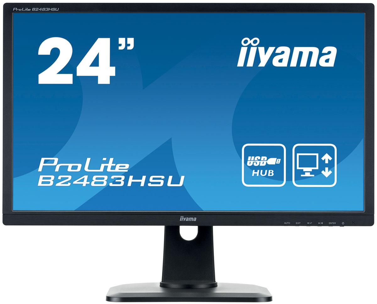 Монитор iiyama B2483HSU-B1DP, Black монитор iiyama b2483hsu b1dp