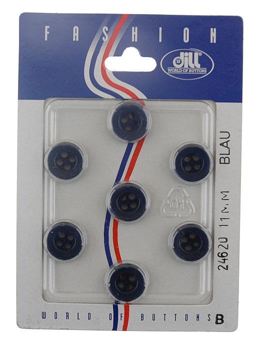 Фото - Пуговицы Dill, цвет: синий, диаметр 11 мм, 7 шт пуговицы dill цвет черный серый диаметр 23 мм 3 шт