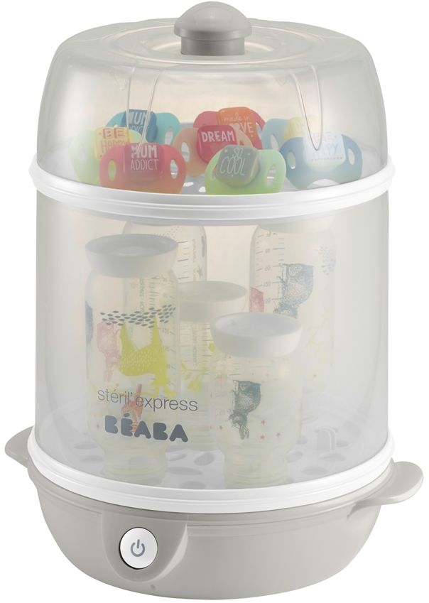 Beaba Стерилизатор электрический beaba для бутылочек в стакане grey