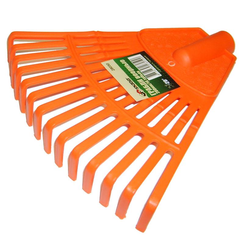 цена на Грабли веерные Skrab, цвет: оранжевый, 14 зубов