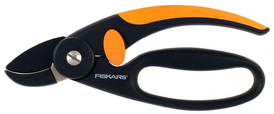 Секатор контактный Fiskars P43, с петлей для пальцев, 18,8 см плоскостной секатор с петлей для пальцев p44 fiskars 111440