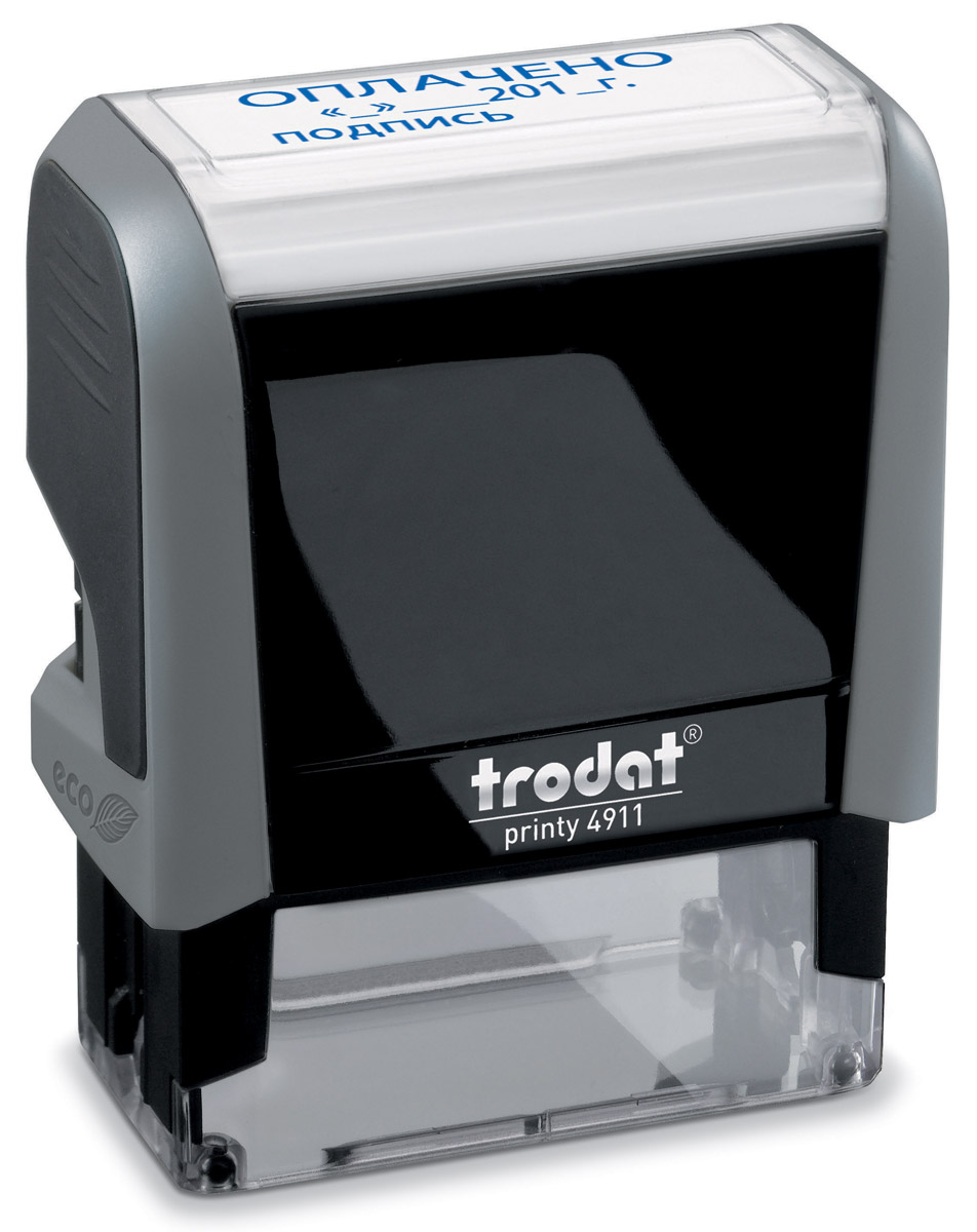 Trodat Штамп текстовый Получено штамп стандартный trodat тродат получено 38 14мм