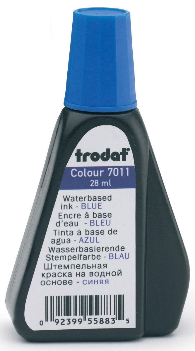 Trodat Штемпельная краска синяя 28 мл штемпельная краска красная 28 мл 7011к