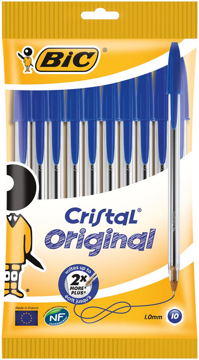 Bic Набор шариковых ручек Cristal цвет чернил синий 10 шт