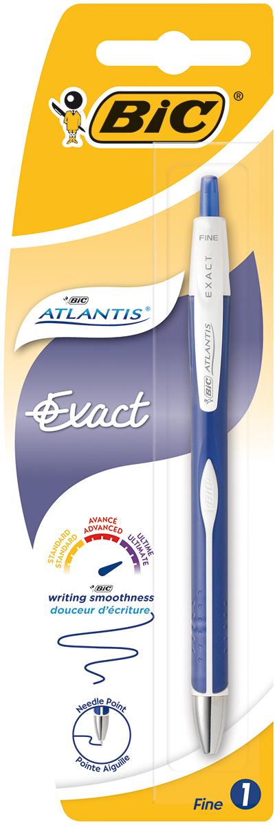 Bic Ручка шариковая Atlantis Exact цвет корпуса синий белый bic ручка шариковая atlantis exact синяя