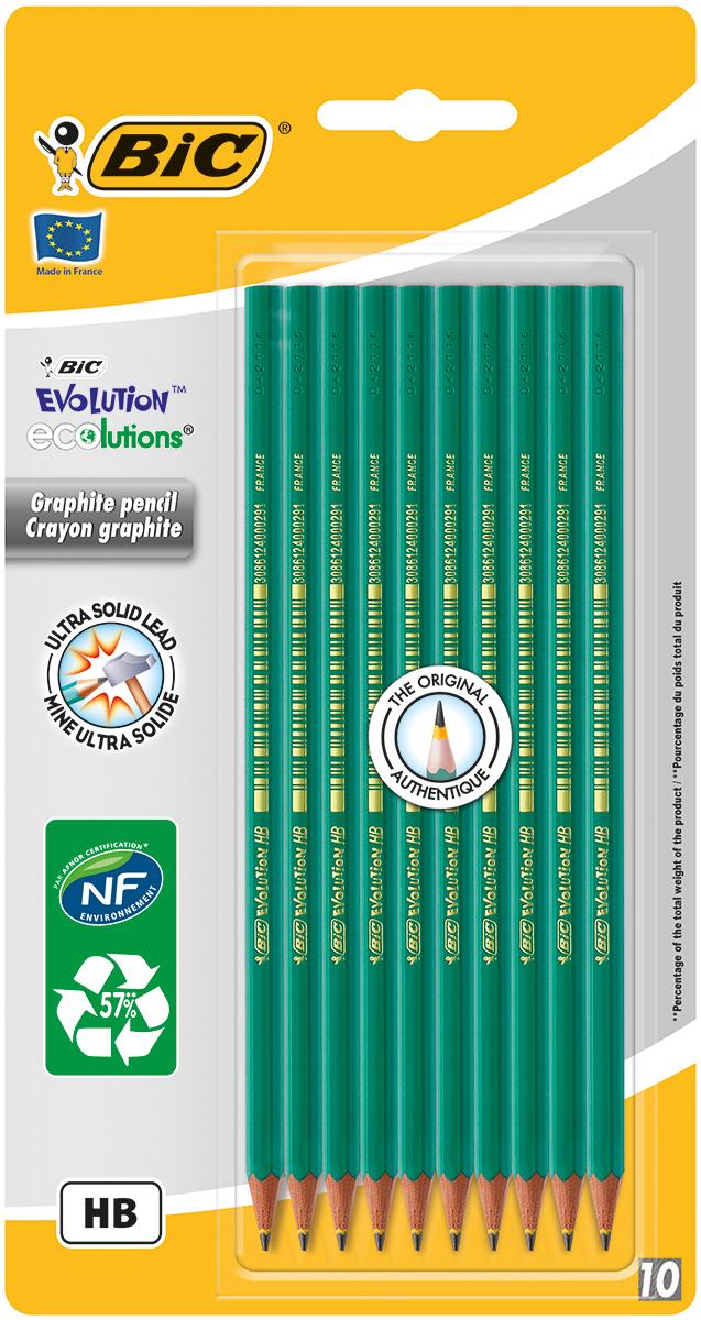 Bic Набор чернографитных карандашей Evolution 10 шт карандаши bic kids